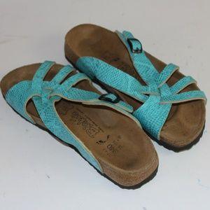 Birkenstock Blue Leather Sandals Size 37 or 6-6.5